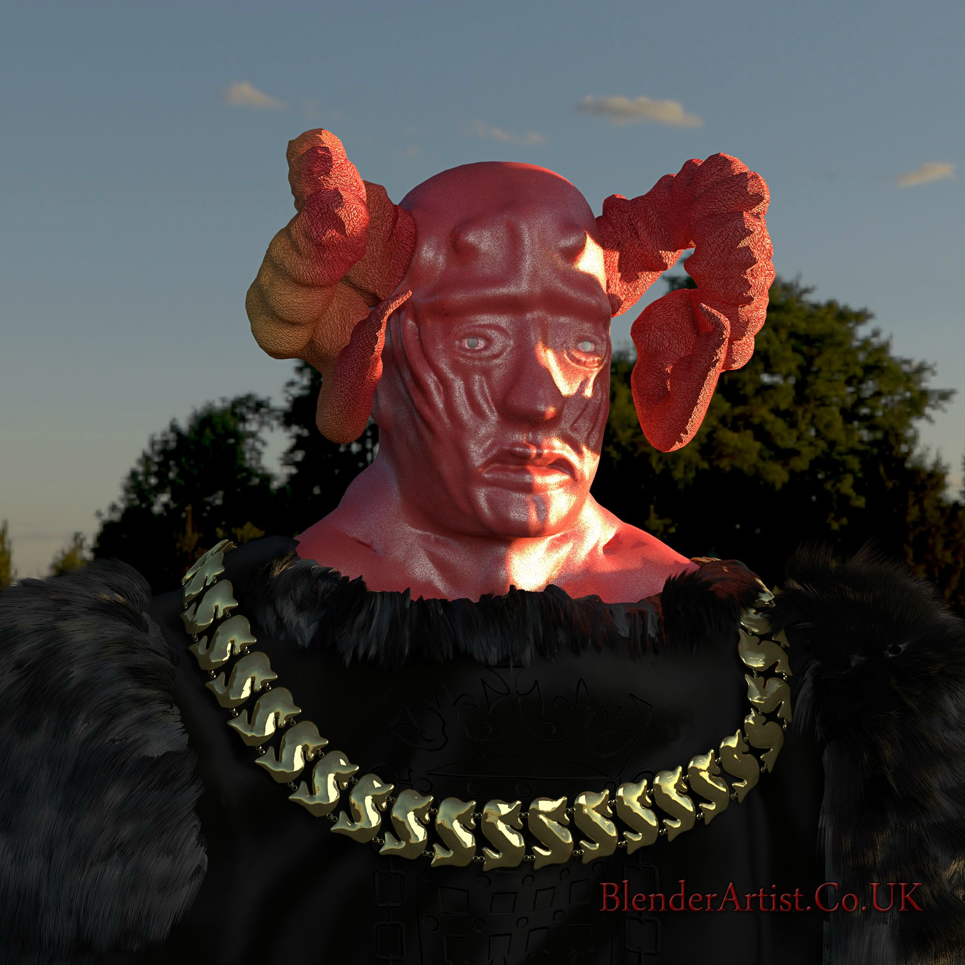 Dantalion the 69th Demon of the Goetia. His human form is varied but by his followers actions you will know of his presence. He gives all knowledge and secrets to his followers who have dared to make a pact with him. © BlenderArtist.Co.Uk 2014.