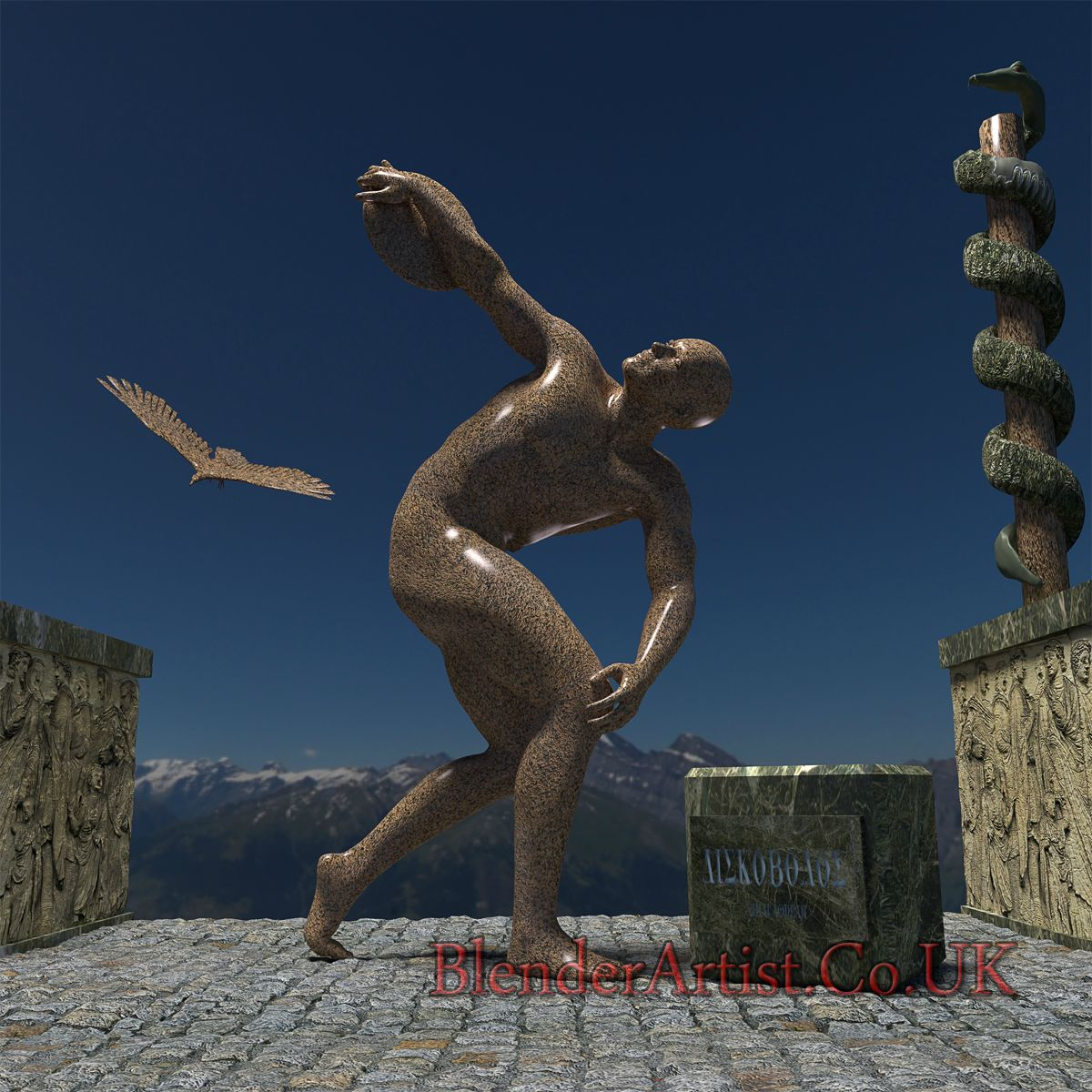 Discobolus. © BlenderArtist.Co.Uk 2014.
