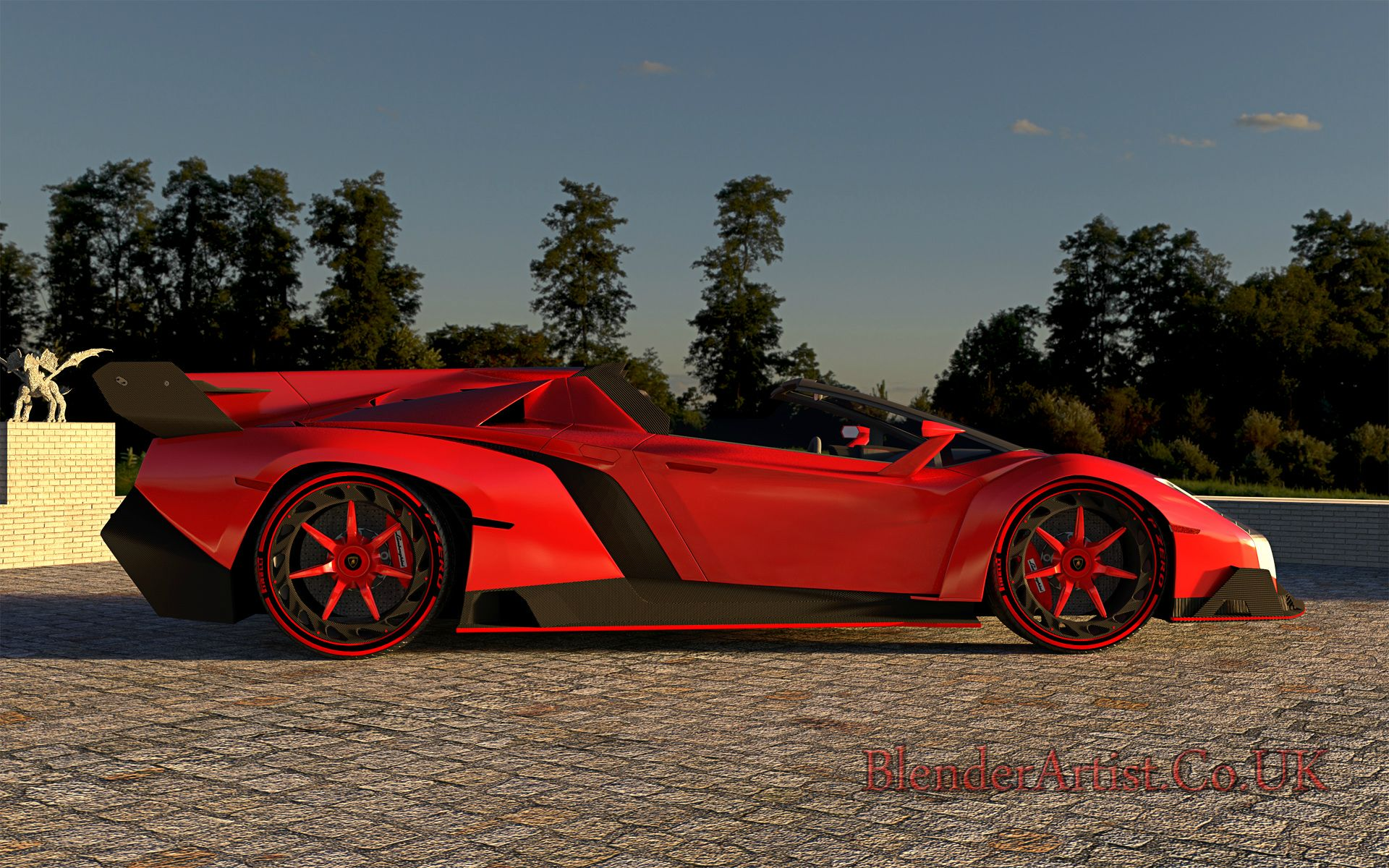 Veneno Side View At Summer Sunset. © BlenderArtist.Co.Uk 2014.